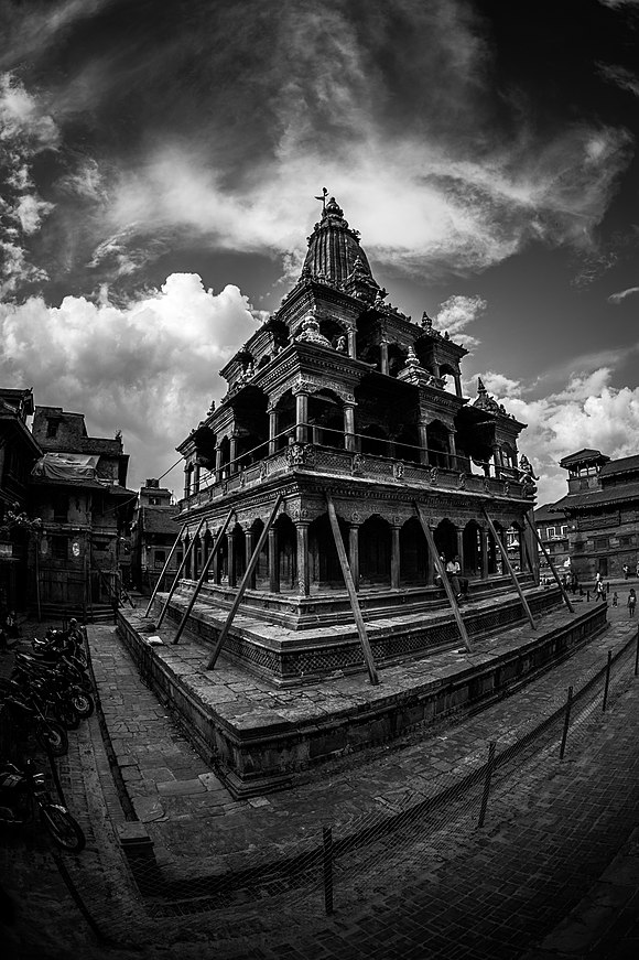 Patan Krishna Mandir, Mangal bazar.jpg