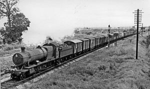 GWR 2884 Class -  No. 3863 on a down freight west of Patchway 12 August 1963
