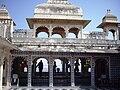 Pavillion on the top level, City Palace, Udaipur.jpg