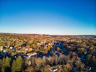Peapack-Gladstone, New Jersey - Downtown Gladstone with Peapack in the distance.