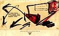 Pedro Meier Mail Art. Mandarin Oriental Hotel, Chao Phraya River, Bangkok. Briefumschlag übermalt. Adressiert an Pedro Meier, Sala Daeng Road, Bangkok Thailand. 1992. Photo © Pedro Meier.jpg