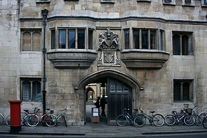 Pembroke College, Cambridge - The Gatehouse is the oldest in Cambridge, dating from the 14th century