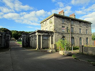 Pembroke Dockyard - Image: Pembroke Dock Captain Superintendent's house and West Gate Lodge