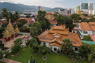 Pulau Tikus - The Dhammikarama Burmese Temple, constructed in 1803, is the first Burmese Buddhist temple in Malaysia.