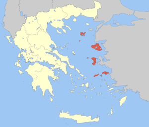 Locator Map of Northern Aegean Periphery, Greece