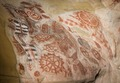 Petroglyphs at Chumash Painted Cave State Historic Park, high above Santa Barbara, California LCCN2013631567.tif