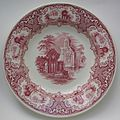 Petrus Regout & Co. bowl Abbey red 001.jpg
