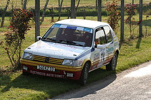 Peugeot 205 of the crew Valentini-Boulant.jpg