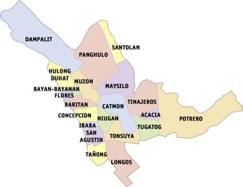 ang dating daan koordinoida keskusten Manilla