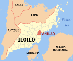 Map of Iloilo with Anilao highlighted