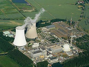 Nuclear fission - The cooling towers of the Philippsburg Nuclear Power Plant, in Germany.