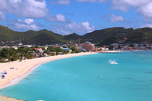 Philipsburg, Sint Maarten - View on Great Bay towards Phillipsburg