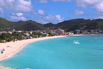 Philipsburg, Sint Maarten - View on Great Bay towards Phillipsburg