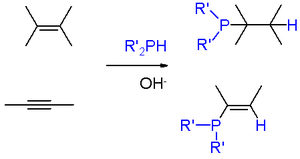 Organophosphorus compound - Scheme 1. Addition of phosphine and phosphines to alkenes and alkynes
