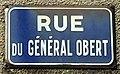 Photo de plaque de rue prise dans la commune d'Étaples - rue Général Obert.jpg