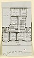 Photograph, Floor Plan for an Apartment Building, 1911 (CH 18387417-2).jpg