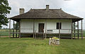 Photograph of the Back of the Bequet-Ribault House in Ste Genevieve MO.jpg