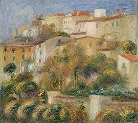 Houses on a Hill (Groupe de maisons sur un coteau)