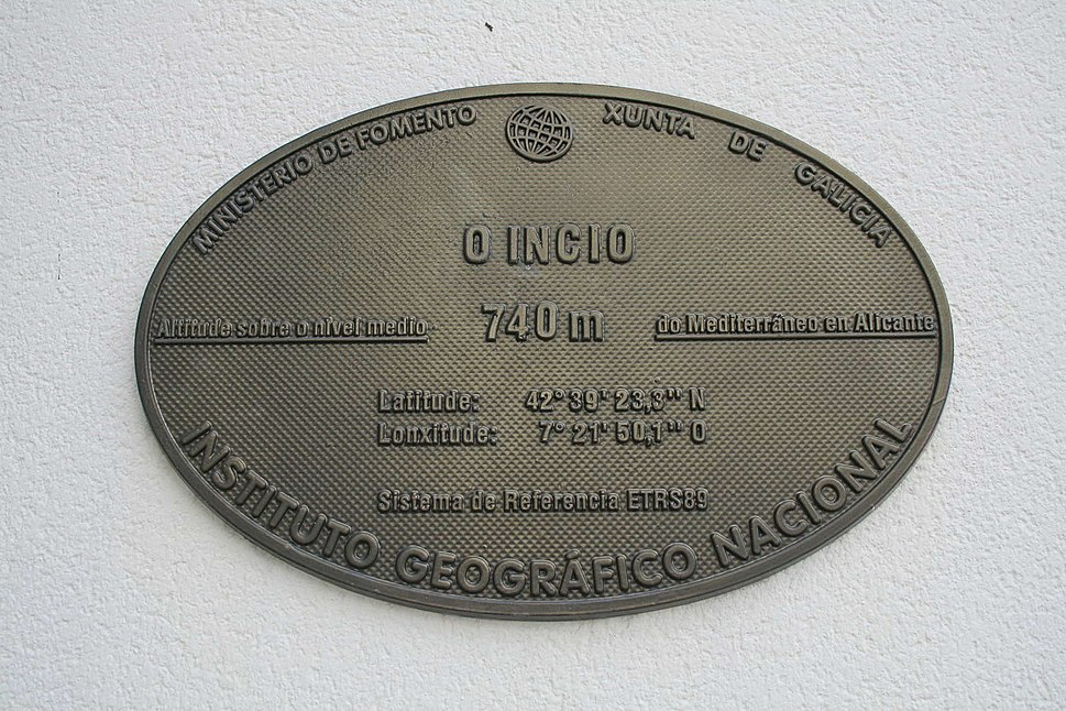 Placa altimétrica do Incio