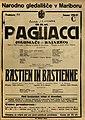 Plakat za predstavi Pagliacci in Bastien in Bastienne v Narodnem gledališču v Mariboru 11. novembra 1926.jpg