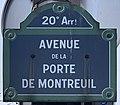 Plaque Avenue Porte Montreuil - Paris XX (FR75) - 2021-01-26 - 1.jpg
