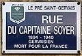 Plaque Rue Capitaine Soyer - Le Pré-Saint-Gervais (FR93) - 2021-04-28 - 1.jpg