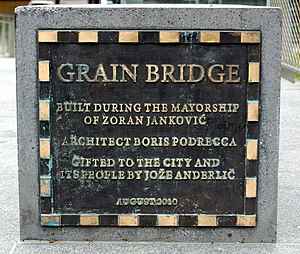 Grain Bridge - Commemorative plaque of the Grain Bridge