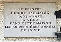 Plaque hommage au peintre Pierre Pelloux à Lyon.JPG