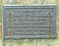 Plaque on the church, Bude - geograph.org.uk - 1328457.jpg