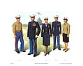 Plate III, Officers' Blue Dress Uniforms - U.S. Marine Corps Uniforms 1983 (1984), by Donna J. Neary.jpg