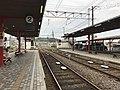 Platform of Hiroden-Miyajimaguchi Station 3.jpg