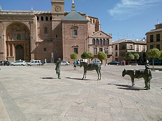 Villanueva de los Infantes, Ciudad Real - Main center (Plaza Mayor) of Villanueva de los Infantes, Ciudad Real, Spain