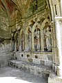 Plouha (22) Chapelle de Kermaria-an-Isquit Porche sud Apôtres 06.JPG