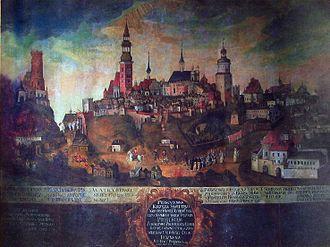 Lublin - Great Fire of Lublin (1719)