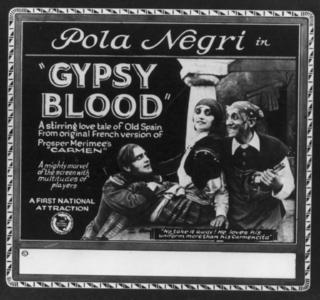 <i>Carmen</i> (1918 film) 1918 German silent drama film directed by Ernst Lubitsch
