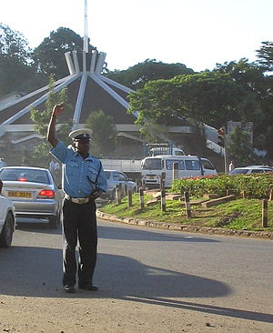 Law enforcement in Kenya - A Kenyan policeman in the capital Nairobi.