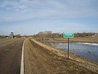Population sign, Monowi, Nebraska, USA.jpg