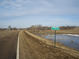 Population sign, Monowi, Nebraska, USA.jpg