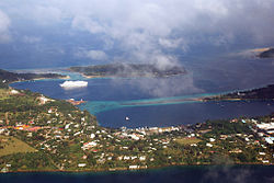 Aerial view o central Port Vila