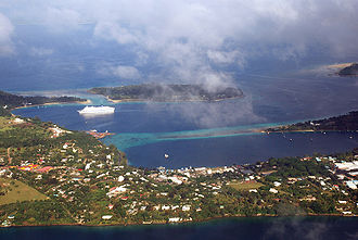 Port Vila - Aerial view of central Port Vila