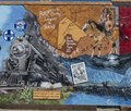 Portion of a mural by Cleburne, Texas, artist Stylle Read, depicting local history in downtown Alpine, Texas. It includes a reference to vast Big Bend National Park, south of Alpine in Brewster County LCCN2014631209.tif