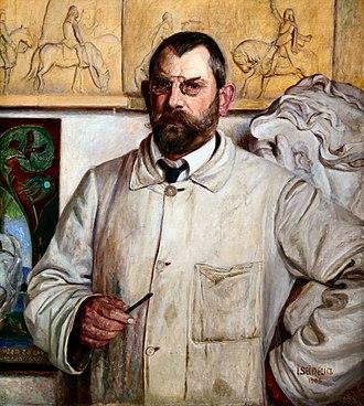 Karl Hansen Reistrup - Karl Hansen Reistrup painted by Ingeborg Seidelin (1908)