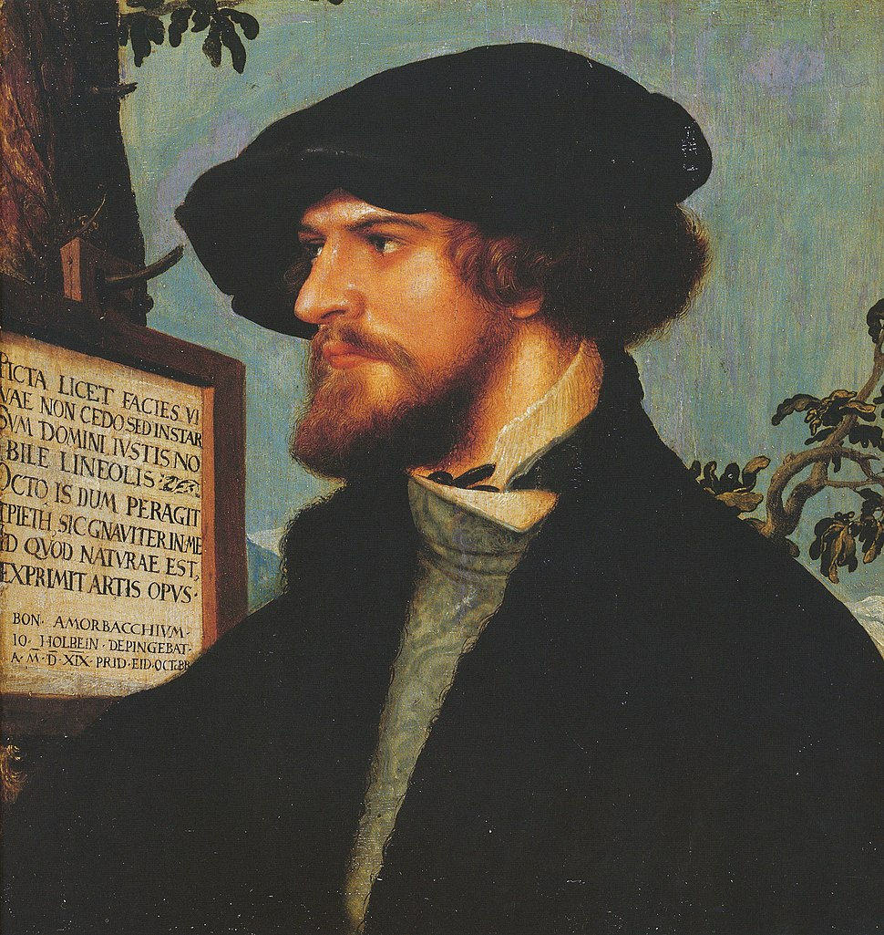 Portrait of Boniface Amerbach, by Hans Holbein the Younger