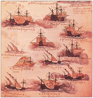Portuguese ships 16th century Livro das Armadas.jpg