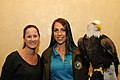 Posing for picture with Bald Eagle. (10596049616).jpg