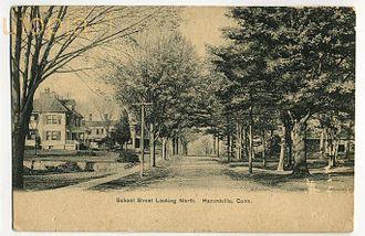 Hazardville, Connecticut - School Street, looking north, c. 1910