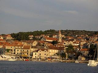 Postira Village in Split-Dalmatia County, Croatia