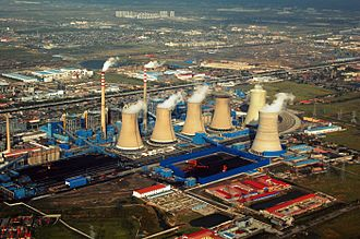Industry of China - A power plant in Tianjin