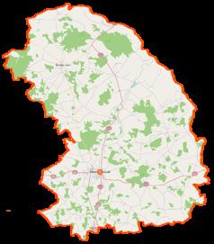 Mapa lokalizacyjna powiatu sokołowskiego