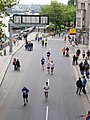 Pražský maraton, Hořejší nábřeží z Palackého mostu.jpg